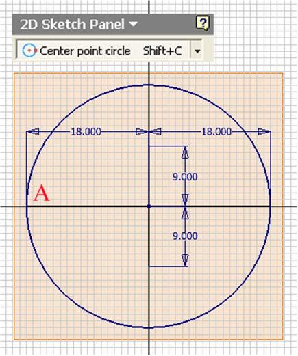 vertical minor radius line (Figure IH-3D); then create the vertical line starting at point B upward beyond the construction circle (the vertical construction line;