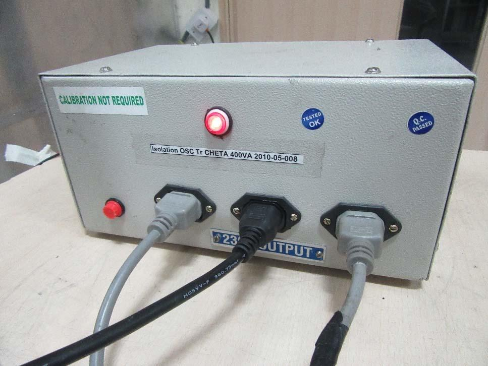 isolation transformer Report Number