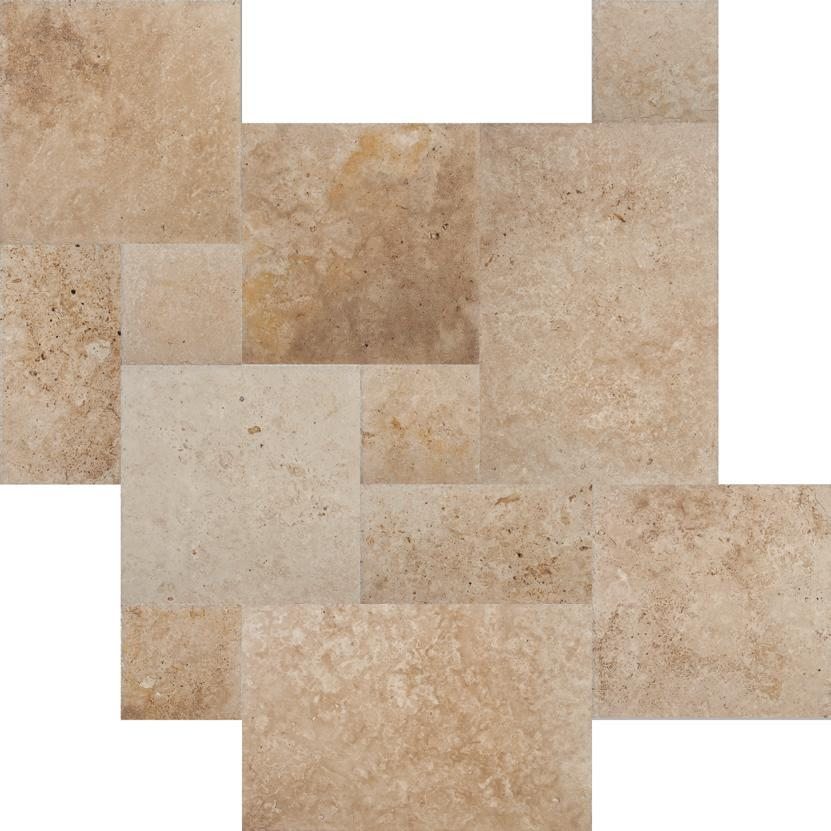 Antique Brushed Travertine