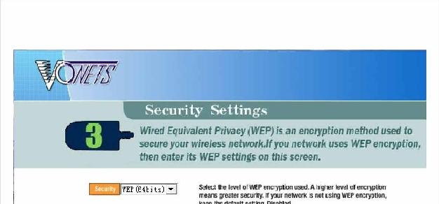 If the network you have selected is secure, you will be presented with a box in which to insert your WEP key*.