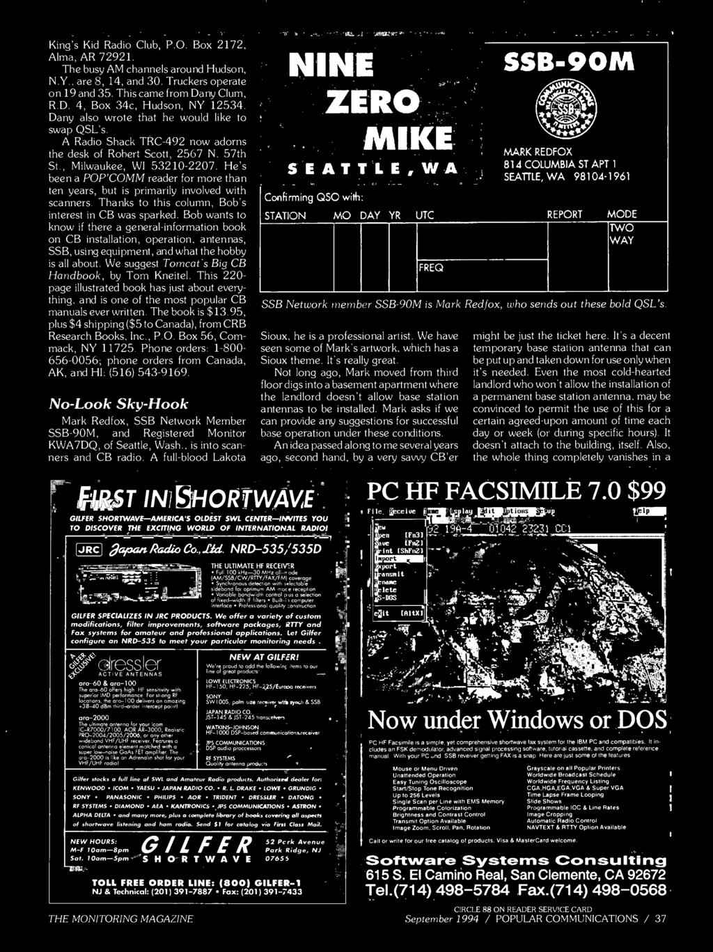 September 1994 Communications Also In This 222 Dug U52 Us Free Ongkir Philips Dry Iron Hd 1173 40 We Suggest Tomcats Big Cb Handbook By Tom Kneitel 220 Page Illustrated