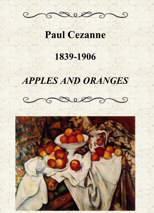 Cezanne considered shapes to be the basic forms;