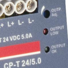 "Signalling contact ""1-1"" (solid state) for output voltage OK Benefits Signalling output 1 The devices of the CP-T series offer a solid state output for function monitoring and remote diagnostics."