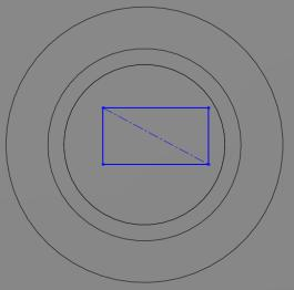 Creating concentric features Use the same procedure to create two further