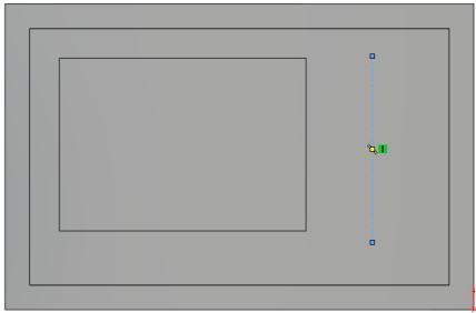 circles will be made coincident with it. Choose Centerline from the sketch toolbar and add in a centerline as shown.