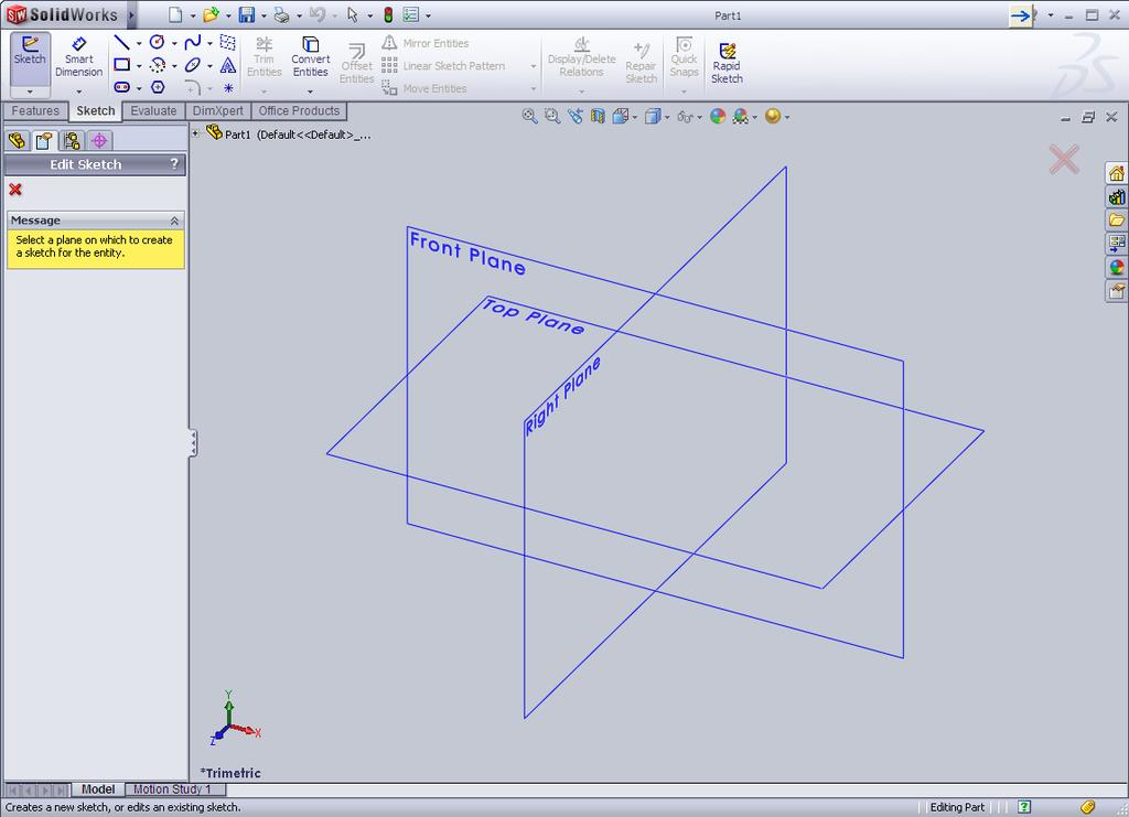 The following instructions will be used to help you create a Pencil using Solidworks.