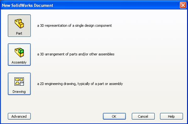 Open Solidworks, create a New Part, and Save the file into Documents (or My Documents). 2.