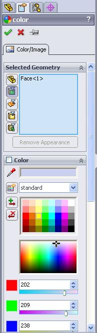 Hold the mouse pointer over the front edge of the cylinder (similar to the Eraser).