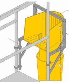 Preparing the worksite: - Measure the height and distance between the starting point and the finishing point in order to calculate the number of chute sections required.