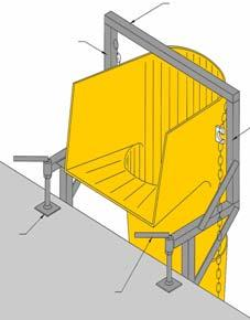 - Depending on the set-up of the worksite, choose the appropriate fixing frame for anchoring the rubbish chute.