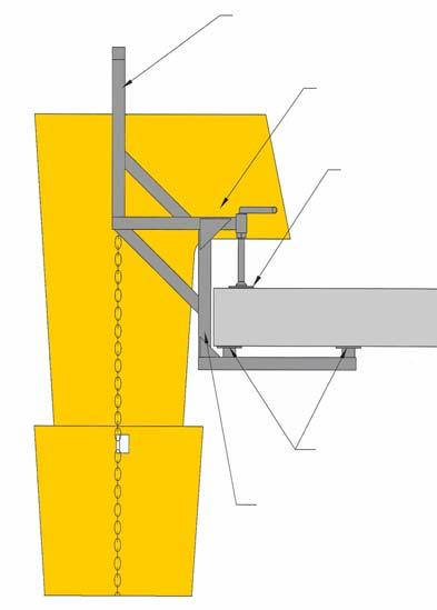 - For heights ranging from 40m to 60m (130ft-196ft), a maximum of 12 chute sections can be attached to a platform fixing frame, representing a maximum distance of 10.
