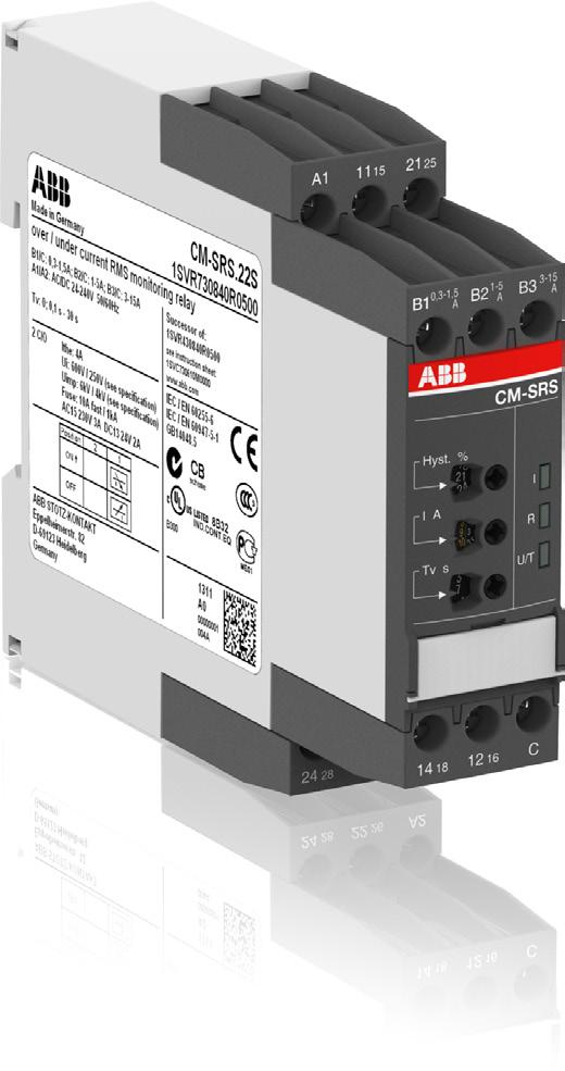 Data sheet Current monitoring relays CM-SRS.2 For single-phase AC/DC currents The CM-SRS.