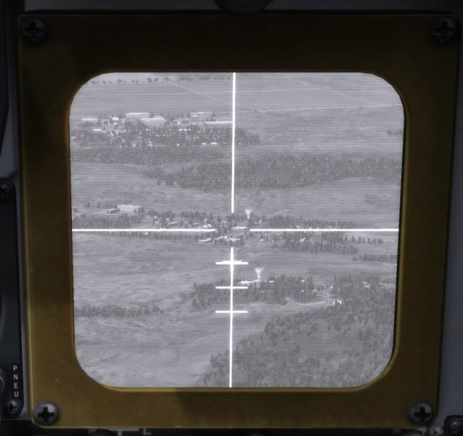 TV Monitor (TVM) The television monitor (TVM) displays direct video from the seeker of the AGM-65 Maverick.
