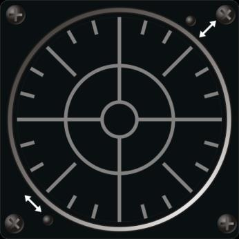 RWR Scope Threat information is displayed in the form of symbols that indicate the threat type and bearing.