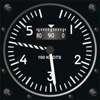 vary from those on the HUD. There is a dashed-arrow showing speed limitation for reasons of flight safety. Maximum airspeed Current airspeed Figure 44.