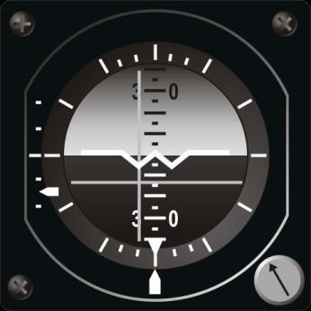 Attitude Director Indicator (ADI) The ADI is positioned in the central part of the instrument panel.