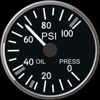 Engine Core Speed Indicator Oil Pressure Indicator Two engine oil pressure gauges are intended for monitoring the current the oil