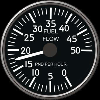 Fan Speed Indicator Fan speed indicator is an indicator of TF-34 engine thrust.
