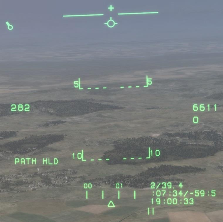 A-10A HUD and TV Monitor operating modes Basic HUD and TVM Symbology There are a group of symbols that remain on the HUD regardless of operating mode.