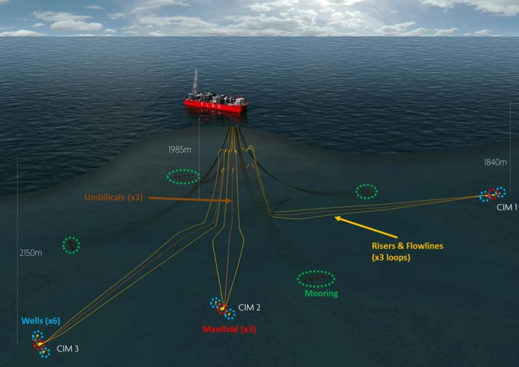 This project highlights Eni s technological leadership in the development of deepwater gas fields via FLNG facilities.