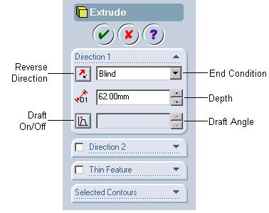 4-14 SolidWorks for Designers Figure 4-10 Extrude PropertyManager Figure 4-11 Preview of the
