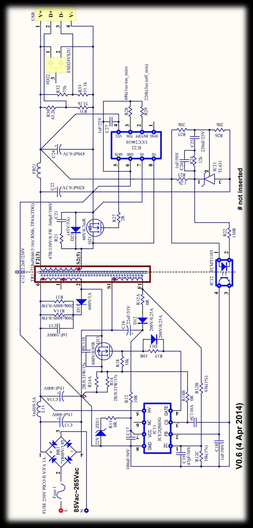 8 Circuit diagram Circuit diagram Figure 3 15W 5V ICEICE2QSO3G power
