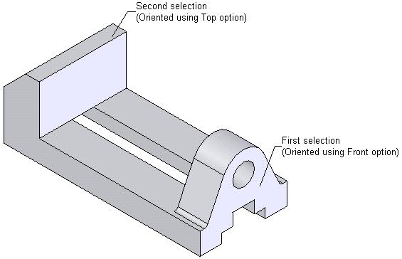 12-12 SolidWorks for Designers Figure 12-9 Faces to be selected Figure 12-10 Resultant view Generating the Standard View Using the Predefined View Tool Toolbar: Menu: Drawing > Predefined View Insert