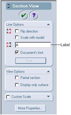 Working With Drawing Views-I 12-17 Generating Section Views Toolbar: Menu: Drawing > Section View Insert > Drawing View > Section As mentioned earlier, section views are generated by chopping a