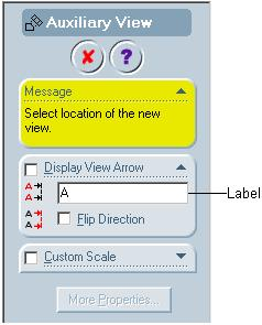 12-26 SolidWorks for Designers Generating Auxiliary Views Toolbar: Drawing > Auxiliary View Menu: Insert > Drawing View > Auxiliary This tool is used to generate an auxiliary view.
