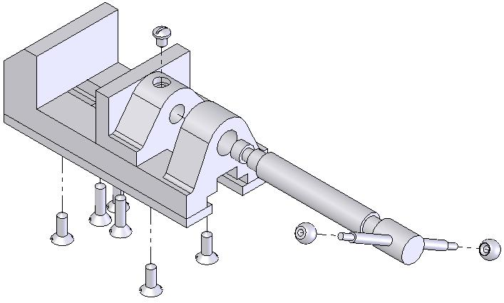 Working With Drawing Views-I 12-49 Tutorial 2 In this tutorial you will generate the drawing view of the Bench Vice assembly created in Chapter 10.