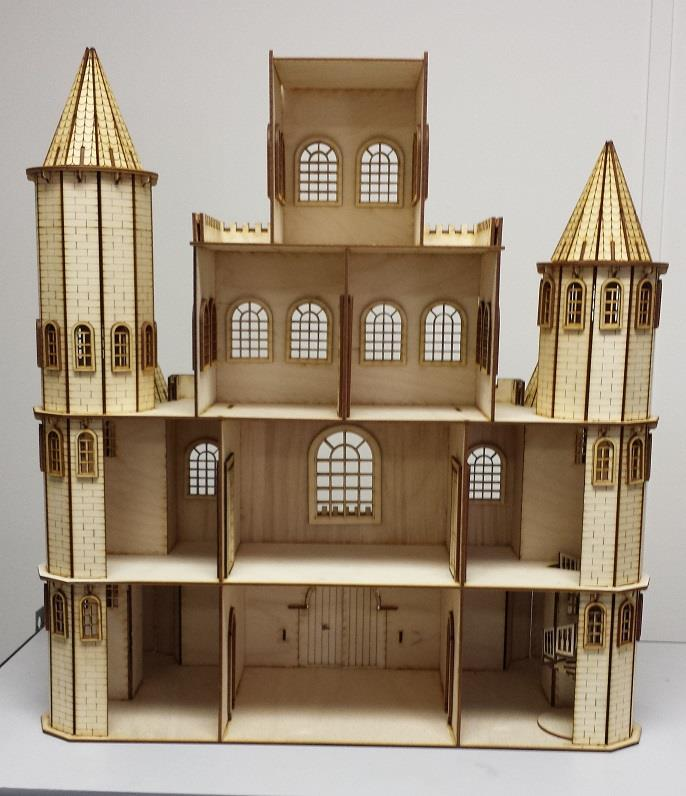 The Castle House is now completed Laser Dollhouse