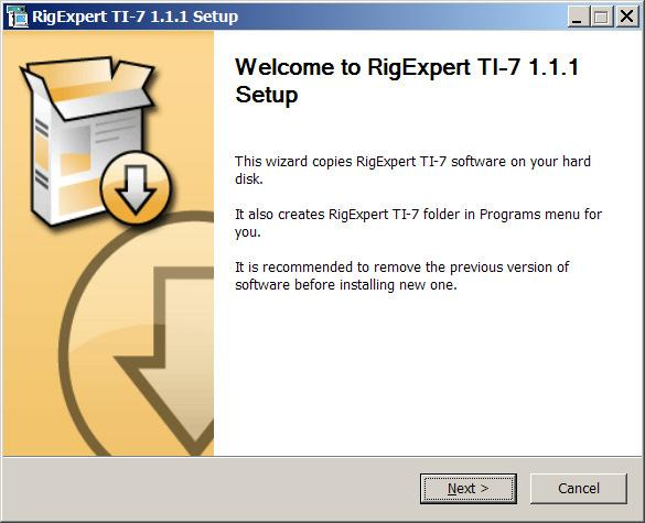 4. Installing the virtual serial port drivers and the Navigator software Start the SetupRETI7.