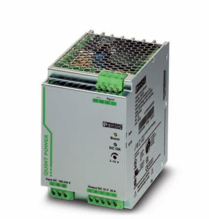 Primary-switched power supply with SFB technology, 1 AC, output current 20 A INTERFACE Data Sheet 103383_en_00 1 Description PHOENIX CONTACT - 06/2008 Features QUINT POWER power supply units highest