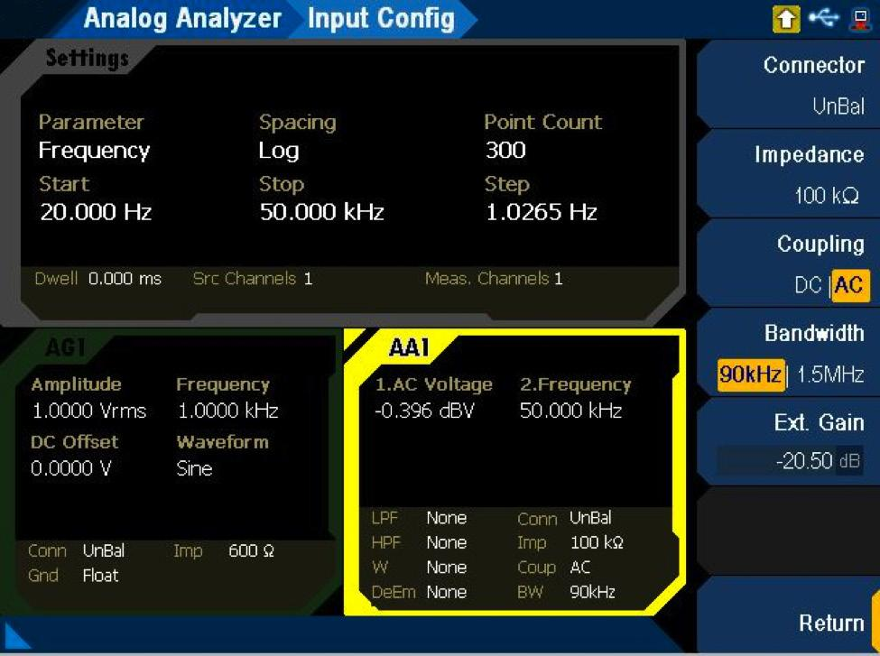 08 Keysight Measuring High Impedance Sources using the U8903B Audio Analyzer Application Note Measurement Results With the matching network built, connected to input of the U8903B and compensated