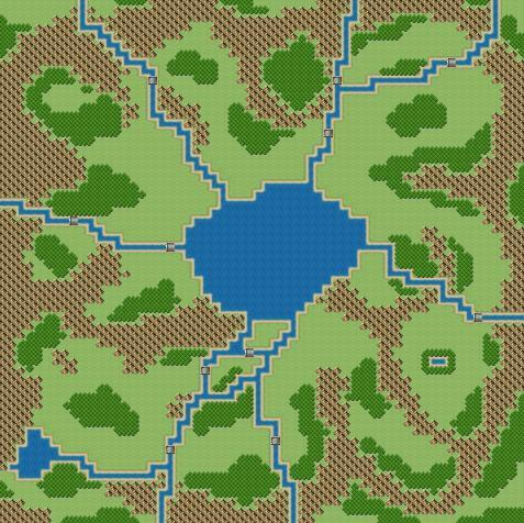 Field 02 With a sea in the middle, this is a map that sends the player around in a circle.