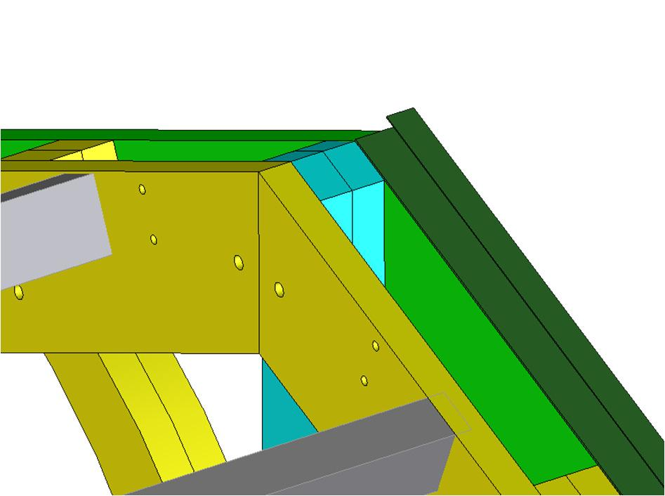 Step 3 : Overlap flashing ends Lay roof panels on pergola structure, grooves in the direction of the slope of the roof, leaving peak eposed and panel ends flush
