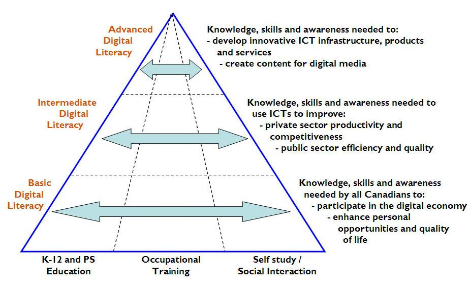 the various kinds of skills that are needed in the digital economy, as set out by the consultation document in its chapters on innovation, infrastructure, the ICT sector and digital media, as well as