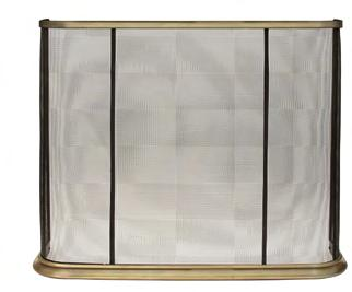12 Chesney s Fireside Collection Penrose Fire Screen A curved black mesh fire screen with