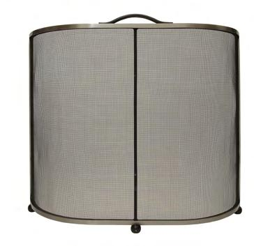 14 Chesney s Fireside Collection Lombard Fire Screen Black A traditional curved fire screen with fine black mesh. Available in all black or brushed steel finishes.