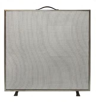 Fire Screens 15 Farringdon Fire Screen Black A traditional flat fire screen of simple design with fine black mesh.