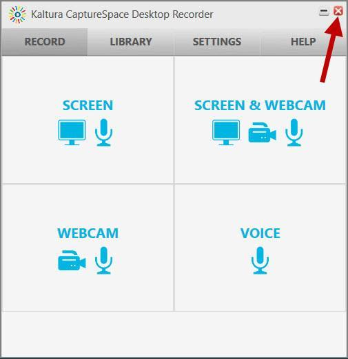 You will need to access the recording through Learn@UWSuperior -> My Media. 26. Click the Close button. 27.