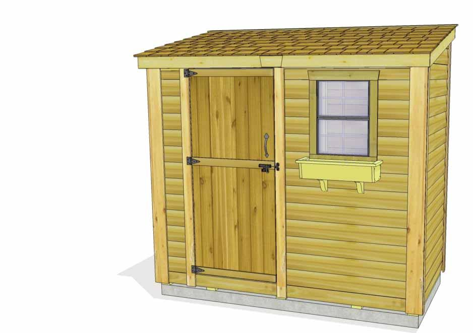 8x4 SpaceSaver Garden Shed Bevel Model Assembly Manual Revision #18 March 9th, 2017 Thank you for purchasing an 8x4 SpaceSaver Garden Shed.
