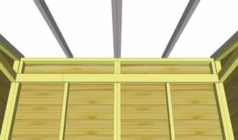 With outside rafters properly secured, completely