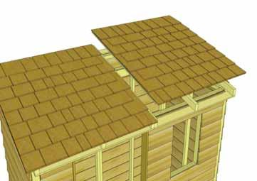 Correctly orientate Left Side Roof Panel, with shingles