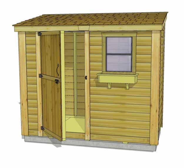 Congratulations on completing your 8x4 SpaceSaver Shed! Note: Our Sheds are shipped as unfinished products.