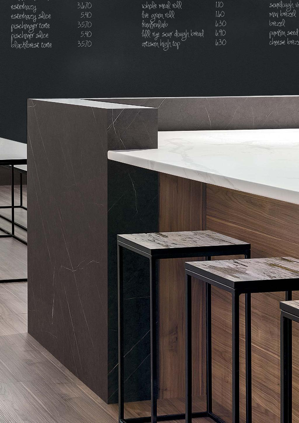 BENCHTOPS With more than 150 realistic stone structures, wood grains and neutral solid colours, polytec s innovative BENCHTOPS range is peerless.