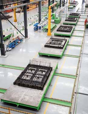 The EDGE Wall production line and equipment are just the answer to your needs. The EDGE production line consists of a circulating wall line and, as options, battery molds and tilting tables.