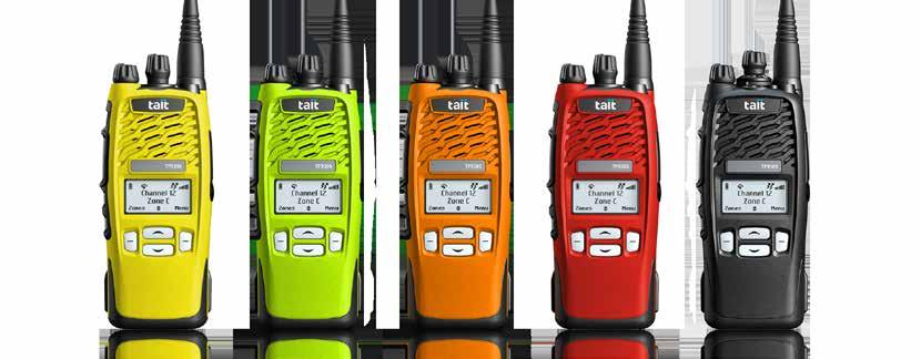 TAIT TRUNKED DMR PRODUCTS WE DESIGN, DEPLOY AND SUPPORT END-TO-END DMR NETWORKS Tait Tough DMR Portables TP9300 DMR Portable: Rugged, feature-rich and business-critical communications grade The