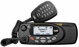 Tait Tough DMR Mobiles TM9300 DMR Mobile: Flexible, reliable and businesscritical communications grade A high-performing critical communications grade mobile, designed to deliver quality audio and