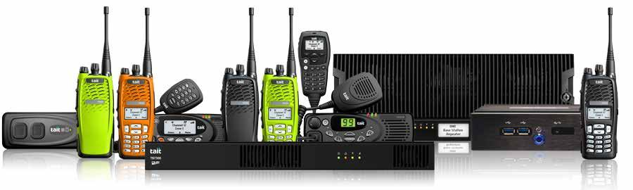 Tait DMR Infrastructure Stand-alone repeaters Complete Tait DMR trunked communications systems - including mobile and portable radios, basestations / repeaters and a trunked core network - are
